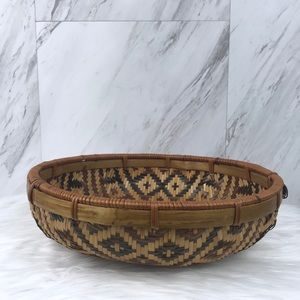 Vintage Wicker Basket Bowl